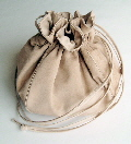 Beige Suede Dolly Bag