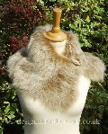 honey toscana shearling tippet